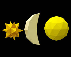 papercraft star moon sun simple paper craft 3d easy diy gift for