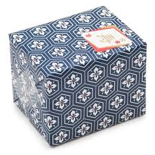 japanese wrapping navy flower japanese gift wrap