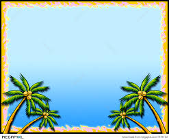 tropical palm tree border illustration 1676103 megapixl
