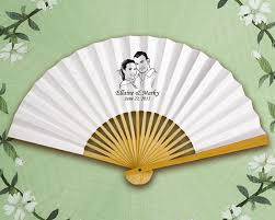 wedding paper fans custom paper fans