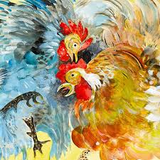 themed paintings artwork by chef and artist jacques pépin farm themed with
