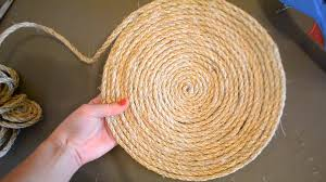Round Sisal Rugs by Diy Nautical Inspired Sisal Rope Placemat Youtube