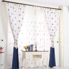 White And Blue Curtains Dreamy Pattern Curtains In White And Navy Blue Colors