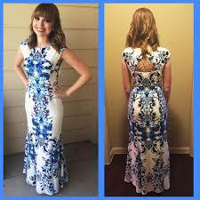 eliza j dresses fashion trends neck cap sleeves backless floral print