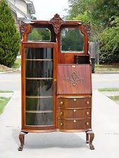 Bookcase Filing Cabinet Combo Antique Desks U0026 Secretaries 1900 1950 Ebay