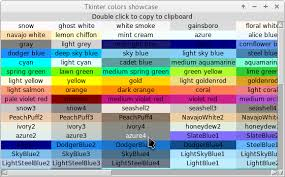 Window Color Farben Set by Python Colour Chart For Tkinter And Tix Stack Overflow