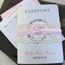 vintage passport wedding invitations serendipity beyond design