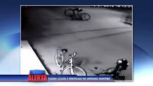 Imprudência: Motociclista em alta velocidade atropela ciclista em ...