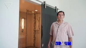 Glass Barn Door by Vitralum Glass Solutions Frameless Shower Doors Orlando Glass Barn