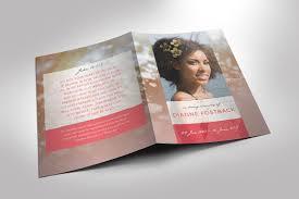 modern funeral programs modern funeral program template brochure templates creative market