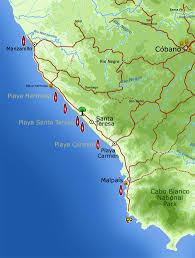 Cabo Map Map Of The Malpais U2013 Santa Teresa Coastal Area U2013 Malpais Real Estate