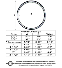 steel sealing rings images Metal o rings stainless steel o rings strapworks jpg