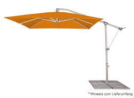 sonnenschirm rechteckig mit kurbel pendelschirm basic plus 250x250 cm pendel ampelschirme