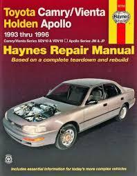 1993 toyota camry repair manual toyota camry vienta holden apollo 1993 1996 haynes service repair
