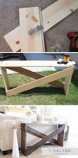 Diy Sofa Table 20 Easy Diy Console Table And Sofa Table Ideas Hative