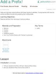 prefixes lesson plans education com