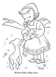 coloring pages of children from other lands 1954 for the young