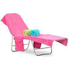 monogrammed terry beach chair cover