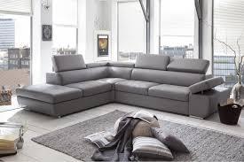 achat canap d angle canapé d angle design en pu gris clair marocco canapé d angle cuir