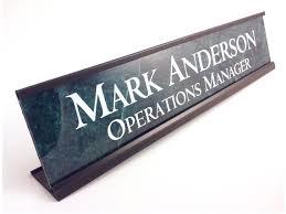 plaque de bureau personnalisé bureau personnalisé plaque didentification nom plaque vert