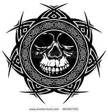 abstract vector illustration black white skull stock vector
