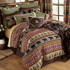 Forest Bedding Sets Accessories Cottage Bedroom Design With Hardwoor Flooring And