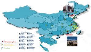 Xiamen China Map by China