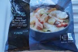 plat cuisiné picard navarin de la mer sauce noilly prat surgelés picard dans la