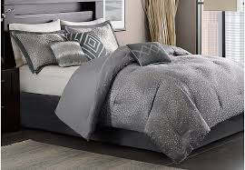 Comforter Sets Images Jaylin Gray 7 Pc Queen Comforter Set Queen Linens Gray