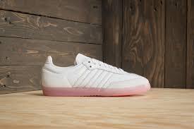 white samba adidas samba w ftw white ftw white easy pink footshop