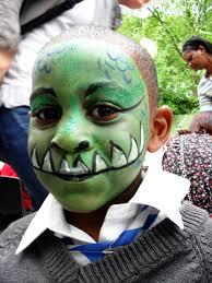 Kids Dinosaur Halloween Costume Dinosaur Face Paint Kids Face Paint Dinosaurs Bry Cole