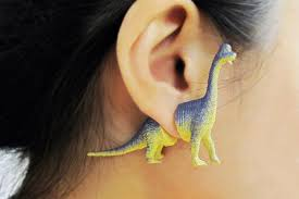earrings that go up the ear dinosaur earrings for a modern caveman bored panda