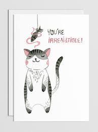 you re irresistible cat mini card