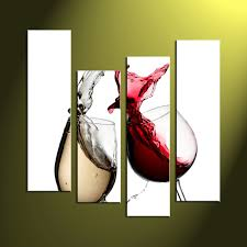 home decor prints 4 piece white canvas home decor red wine art