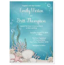 Wedding Invitations Under 1 Under The Sea Wedding Invitations At Artistically Invited