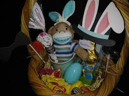 easter baskets for sale i easter baskets for sale this one has sock monkey