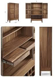 Outdoor Bar Cabinet Doors Victuals Walnut Bar Cabinet 2 499 00 Wine Cabinet U0026 Storage