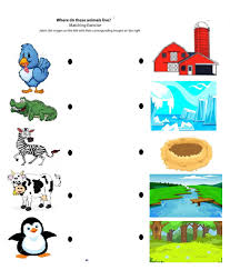 free printable matching printables worksheets animals to their