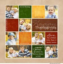 colorful blocks multi photo thanksgiving card blessings