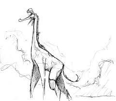 sketch the majestic giraffe by melek on deviantart