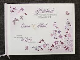 spr che hochzeitsbuch gästebuch hochzeit lila flieder hochzeitsbuch blumenranken deko
