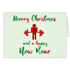 christmas cards themed fitness christmas greeting cards zazzle