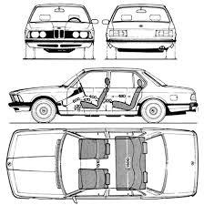1977 bmw 7 series 1977 bmw 7 series e23 sedan blueprints free outlines
