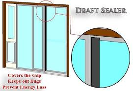 Patio Door Draft Draft Sealer For Sliding Glass Doors Door Draft Sliding Glass