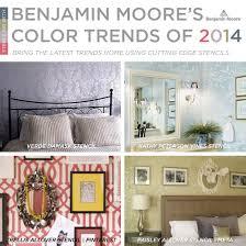home decor color trends 2014 stenciling with benjamin moore s 2014 color trends stencil