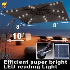 Patio Umbrella With Led Lights by 18 Solar Light Umbrella Summer Party Lights Perfect For Bbq