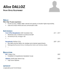 Sample Resume For Front Office Receptionist by 20 Free Cv Templates And Tips For Resume Writing