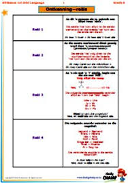 english additional language worksheets grade 4 worksheets grade