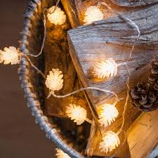 philips pine cone string lights pinecone battery fairy lights by lights4fun notonthehighstreet com