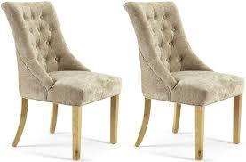 Uk Dining Chairs Buy Serene Hton Mink Fabric Dining Chair Pair Cfs Uk